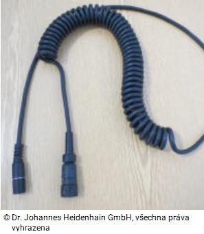 Spirálový kabel k ručnímu kolečku HR 510 Heidenhain